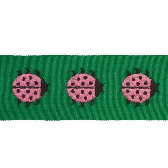 77392 Ladybird Tape Pink and Green by Schumacher Fabric