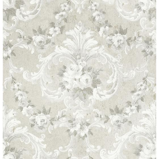 AST4065 Zio and Sons This Old Hudson Timeless Grey Rose Damask by A-Street Prints Wallpaper