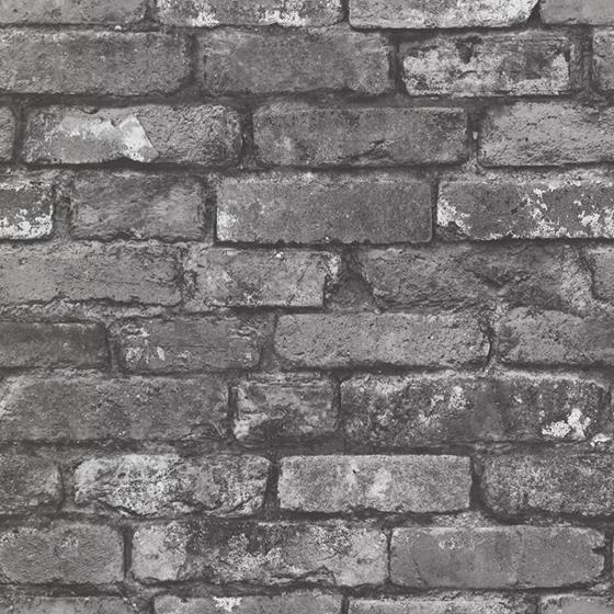 2922-21260 Trilogy Debs Grey Exposed Brick by A-Street Prints Wallpaper