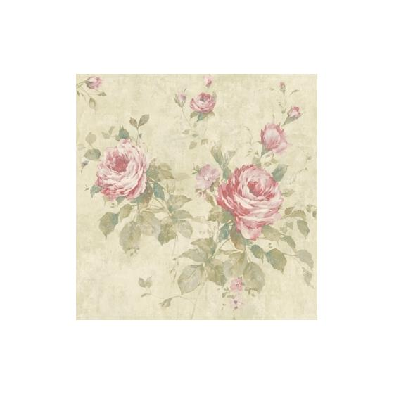 CL60602 SBK25051 Claybourne Seabrook Wallpaper Floral