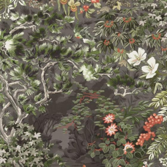 115-4011 Woodland, Coral Olive Char Print by Cole