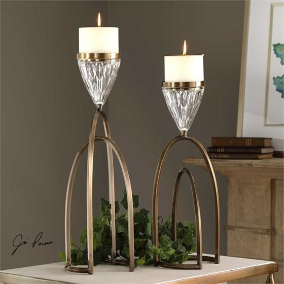 18920 Carma Candleholders S/2 by Uttermost
