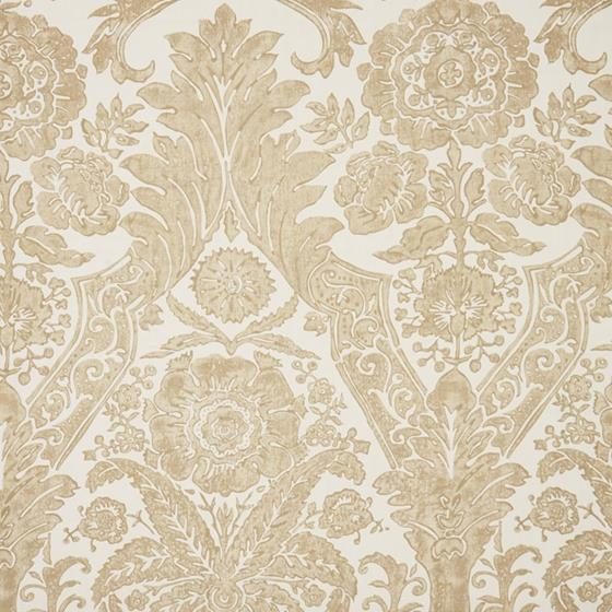 WP88354-001 Luciana Damask Print Sand by Scalamandre