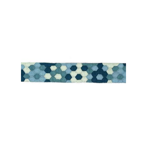 HONEYCOMB.TEAL.0 Honeycomb Blue N/A Groundworks Fabric
