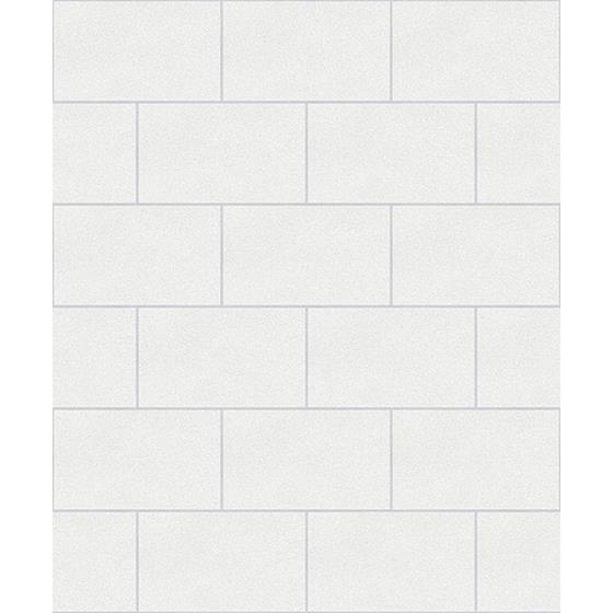 2836-M1054 Shades of Grey Angelo Ivory Subway Tile by Advantage Wallpaper