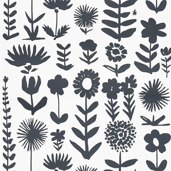 5009810 Wild Things, Black by Schumacher Wallpaper